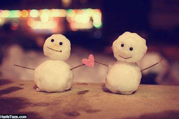 عکس زیبا و قشنگ دونفره در زمستان