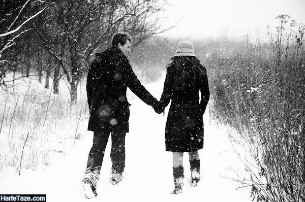 عکس دونفره دختر و پسر در زمستان