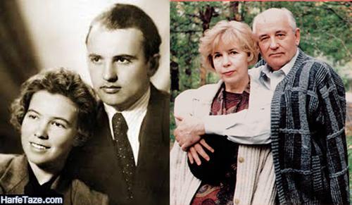 تصاویر جوانی میخائیل گورباچف و همسرش