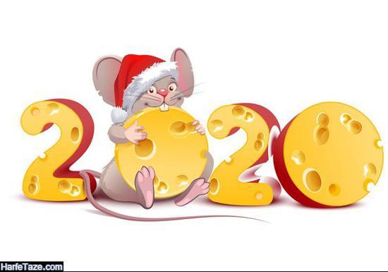 عکس موش برای تبریک سال 2020 و کریسمس