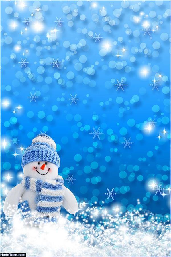تصاویر گرافیکی آدم برفی برای بک گراند زمستانی