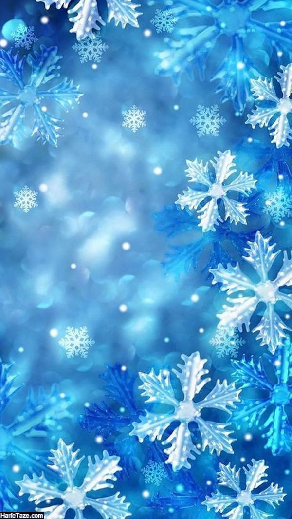 بک گراند زمستانی و پس زمینه برفی برای موبایل