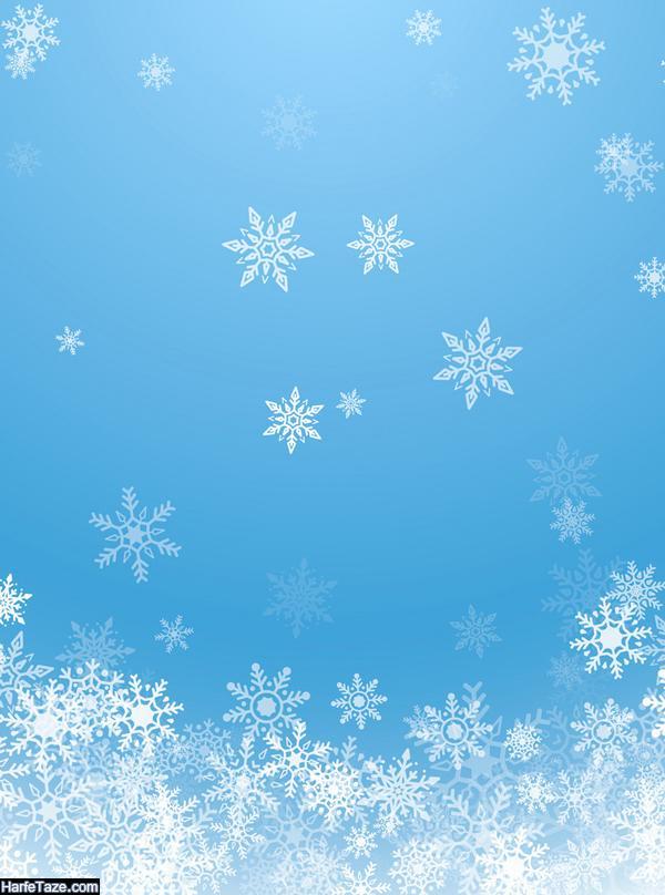 بک گراند زمستانی و دونه برف برای تم موبایل