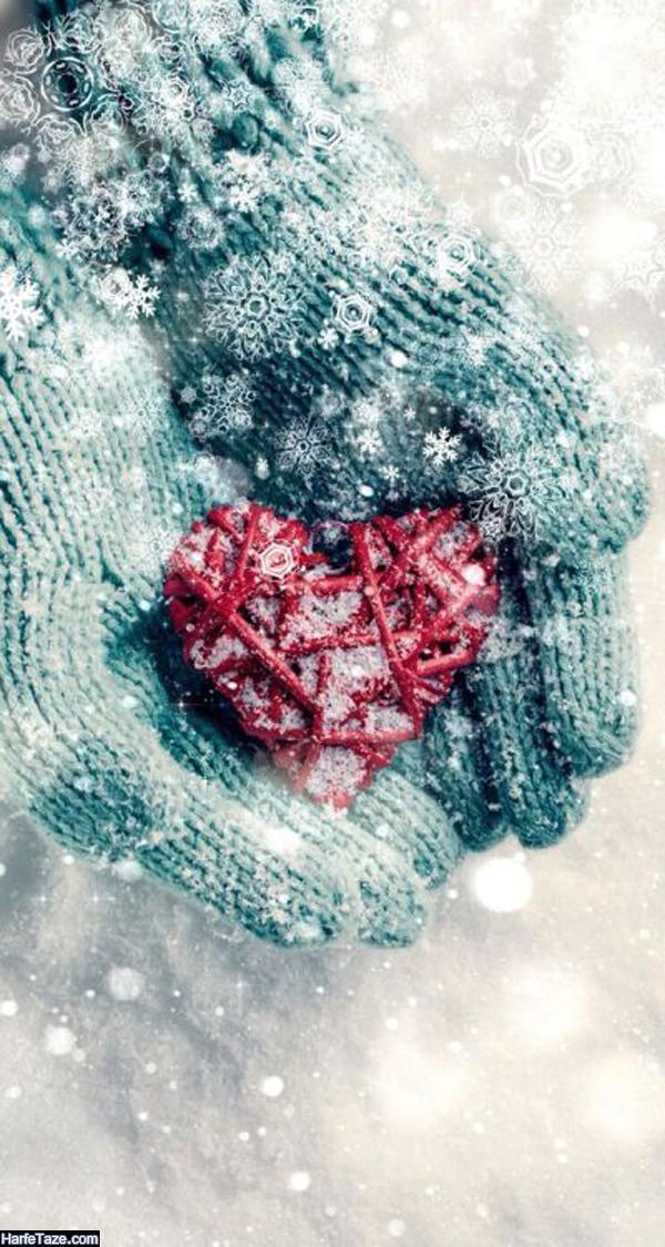 عکس قلب یخی برای بک گراند زمستانی