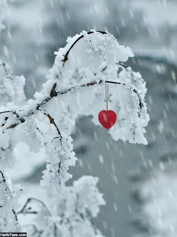 بک گراند زمستانی و برفی عاشقانه