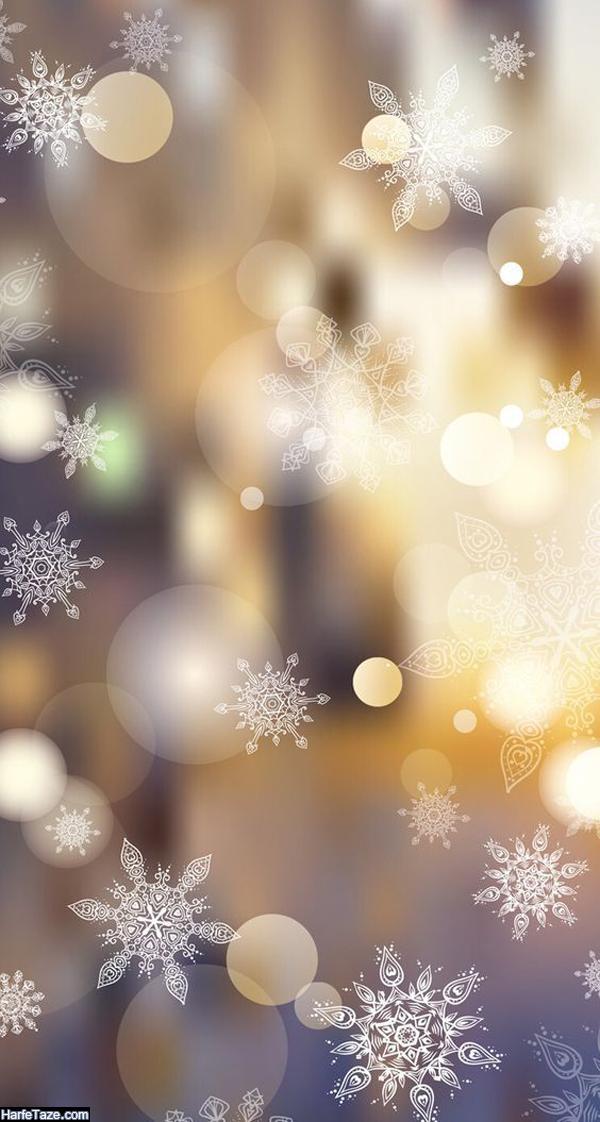 بک گراند زمستانی و والیپر دونه برفی