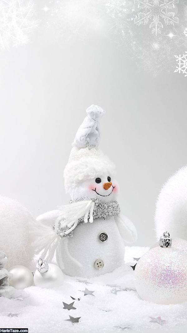 عکس آدم برفی خوشگل برای بک گراند زمستانی