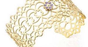 مدل دستبند پهن طلا با طرح های شیک و جذاب