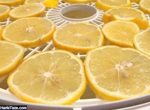 خشک کردن لیمو
