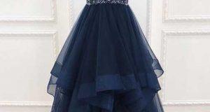 مدل لباس مجلسی آبی کلاسیک زنانه ۲۰۲۰ – ۹۹