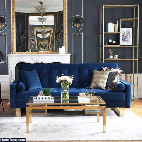مبلمان آبی کلاسیک
