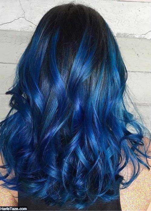 رنگ مو آبی کلاسیک