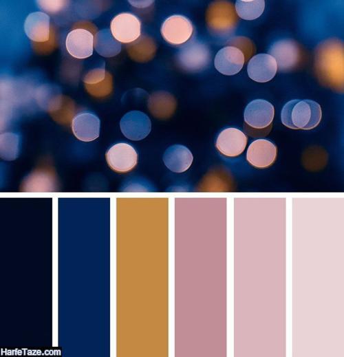 با مانتو آبی کلاسیک چه رنگ شال و روسری بپوشم