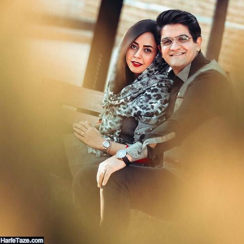 سینا شعبانخانی و همسرش