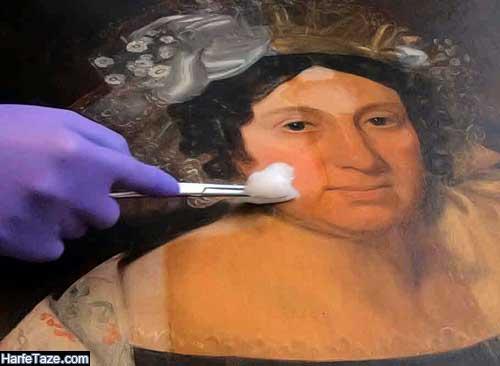تمیز کردن تابلو نقاشی