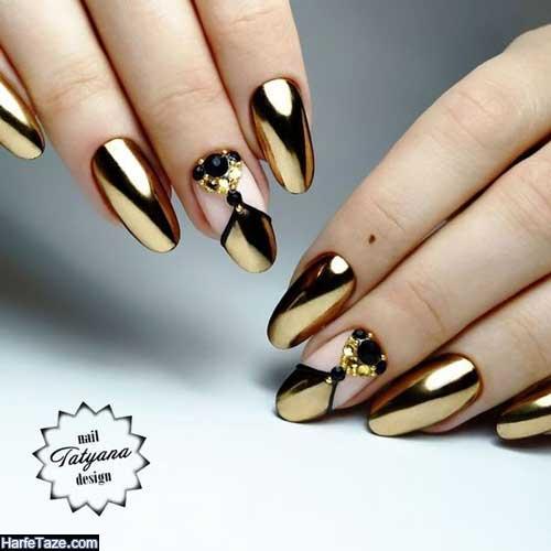 طراحی ناخن طلایی