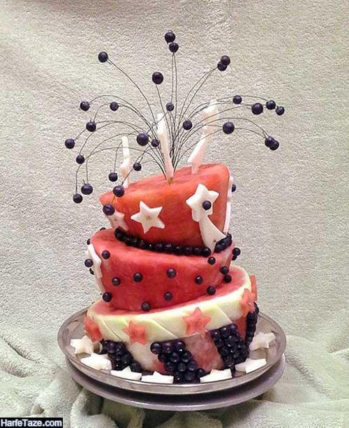 تزیین هندوانه کیکی