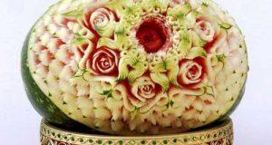 مدلهای فوق العاده زیبای تزیین هندوانه شب یلدا ۹۸