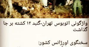 ۴۳ کشته و زخمی در حادثه واژگونی اتوبوس تهران – گنبد در محور فیروزکوه + تعداد کشته ها