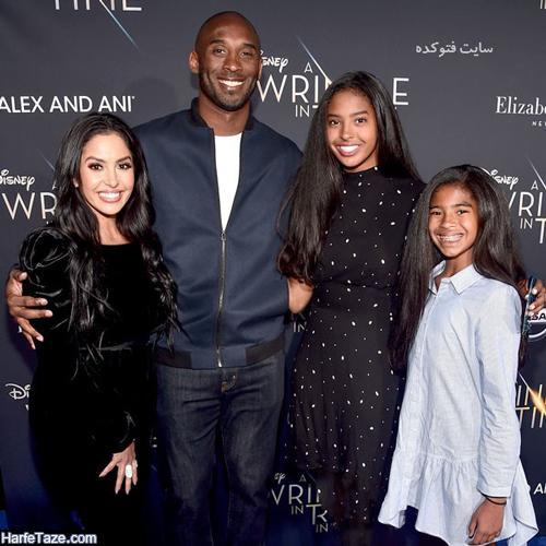 عکسهای خانوادگی کوبی برایانت بسکتبالیست آمریکایی