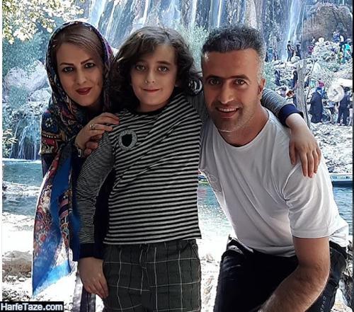 عکس پدر و مادر آریا جوکار بازیگر