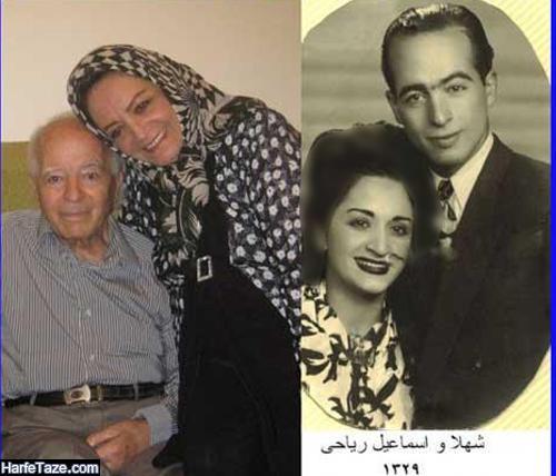 عکس جوانی شهلا ریاحی و همسرش