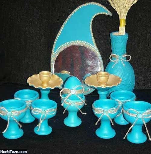 مدل هفت سین آبی کلاسیک سال ۹۹