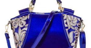 مدل کیف نوروز ۹۹ به رنگ آبی کلاسیک | کیف مجلسی زنانه