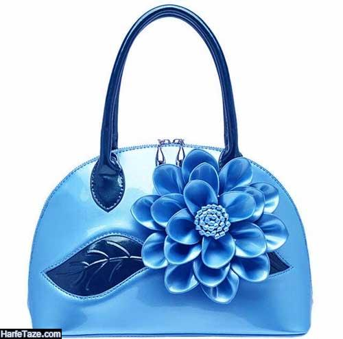 مدل کیف نوروز ۹۹ به رنگ آبی کلاسیک