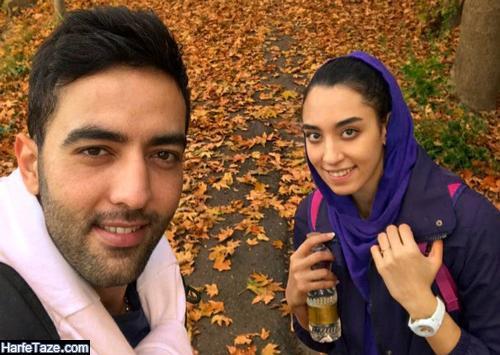 تصاویر جدید کیمیا علیزاده و همسرش حامد معدنچی