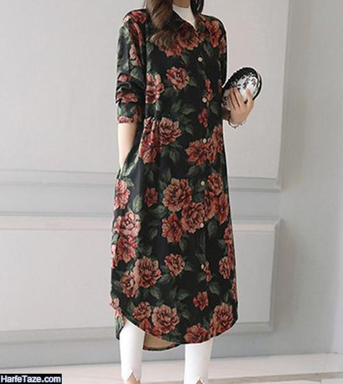 مدل مانتو گلدار 99 برای عید