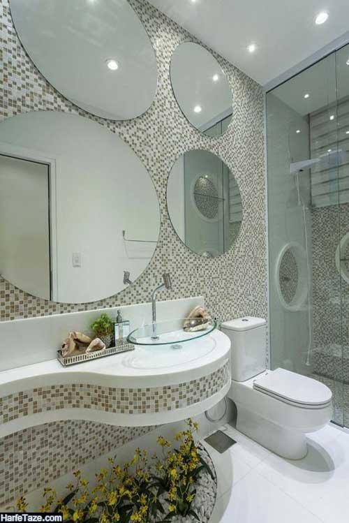 دکور حمام و دستشویی