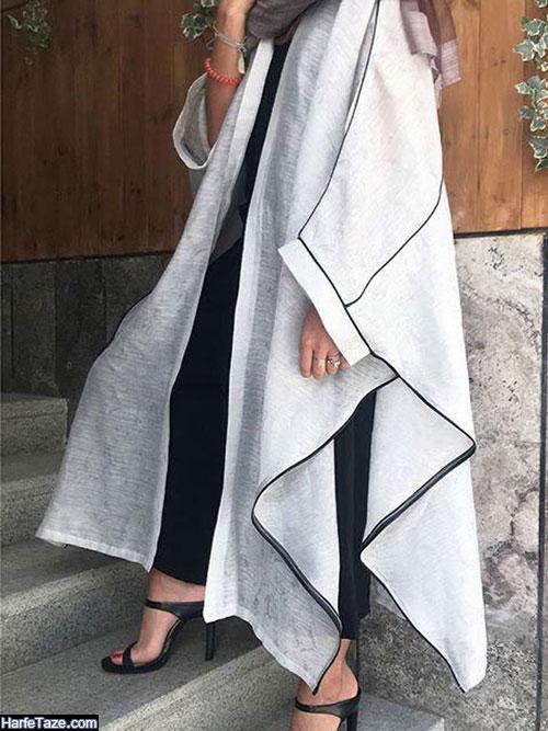 مدل مانتو عبایی ریون برای عید ۹۹