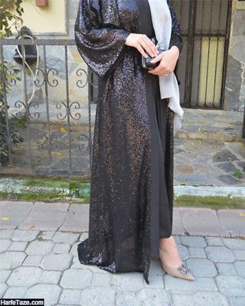 مدل مانتو عبایی بلند شاین ۹۹