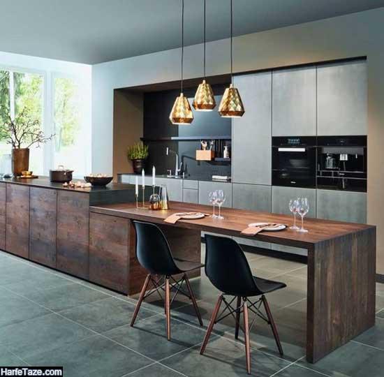 مدل دکوراسیون آشپزخانه لوکس جدید