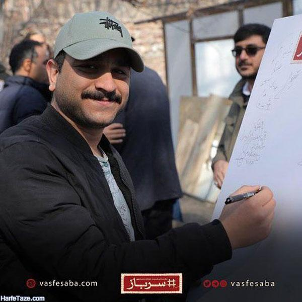 جواد خواجوی از بازیگران سریال سرباز