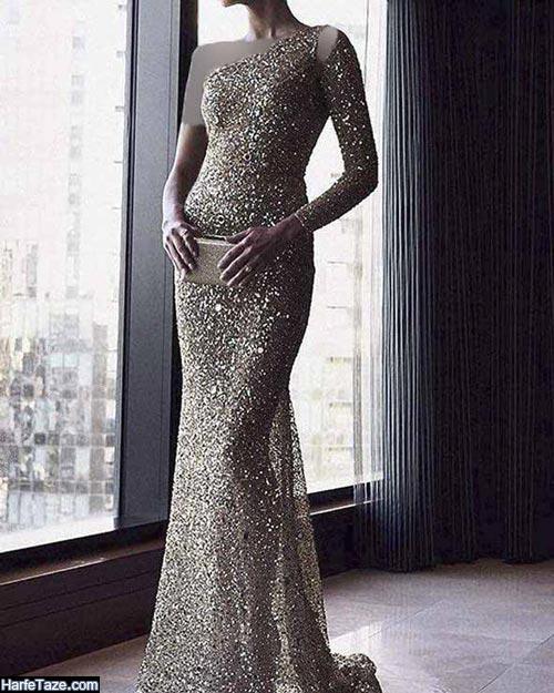 لباس مجلسی لمه بلند 2020