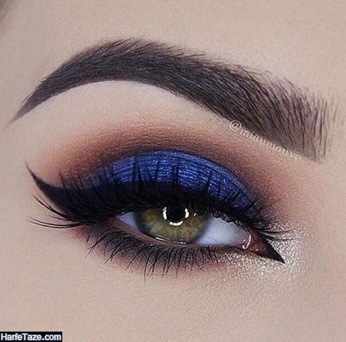 مدل آرایش رنگ آبی کلاسیک