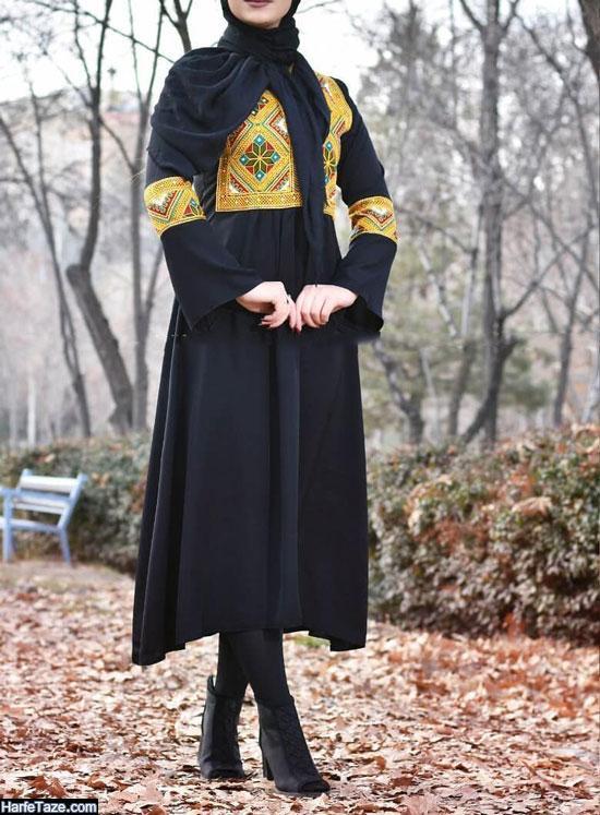 تیپ جذاب با مدل مانتو دامن ۹۹ ایرانی