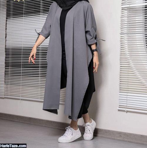 مدل مانتو کیمونو مجلسی بلند ۹۹