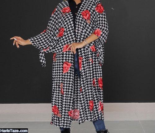 جدیدترین مدل مانتو کیمونو گلدار 99