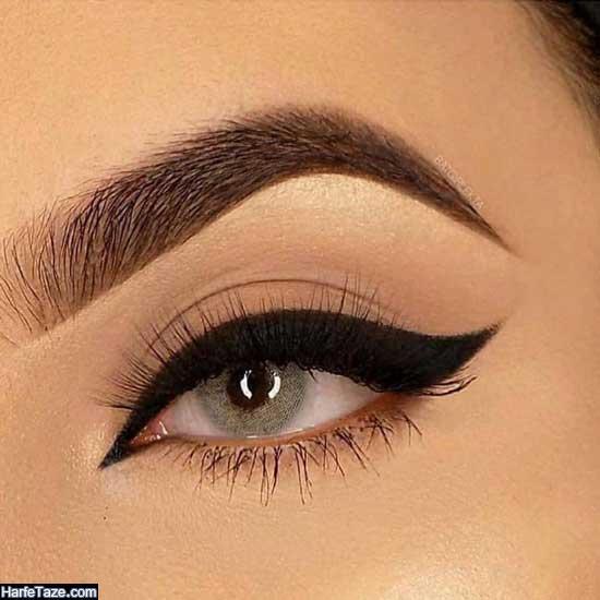 مدل آرایش چشم لایت عروس
