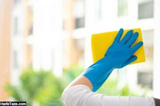 تمیز کردن آشپزخانه و سرویس بهداشتی