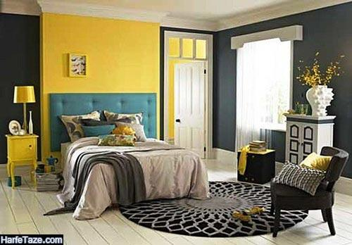 دکوراسیون خانه با رنگ زرد و مشکی