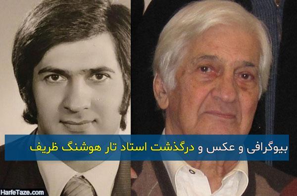 بیوگرافی و عکس هوشنگ ظریف استاد تار و همسرش پروین صالح + علت درگذشت