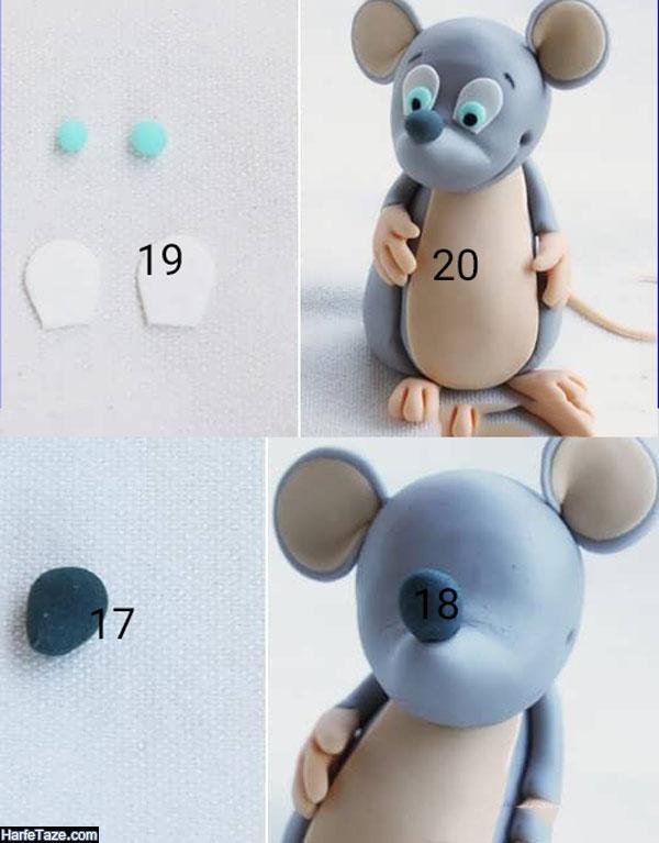 آموزش تصویری درست کردن موش نمدی و خمیری با الگو