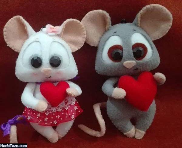 تصاویر موش نمدی با الگوی دوخت
