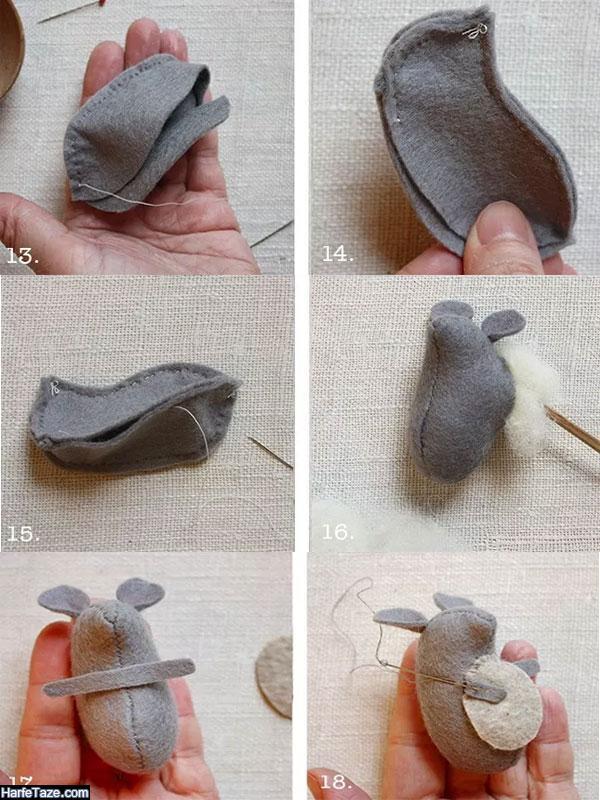 ساخت عروسک موش نمدی فانتزی