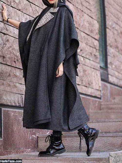 مدل مانتو خفاشی کوتاه دخترانه ساده