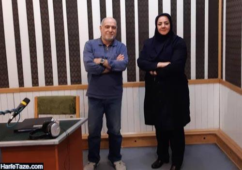 عباس محبی و همسرش